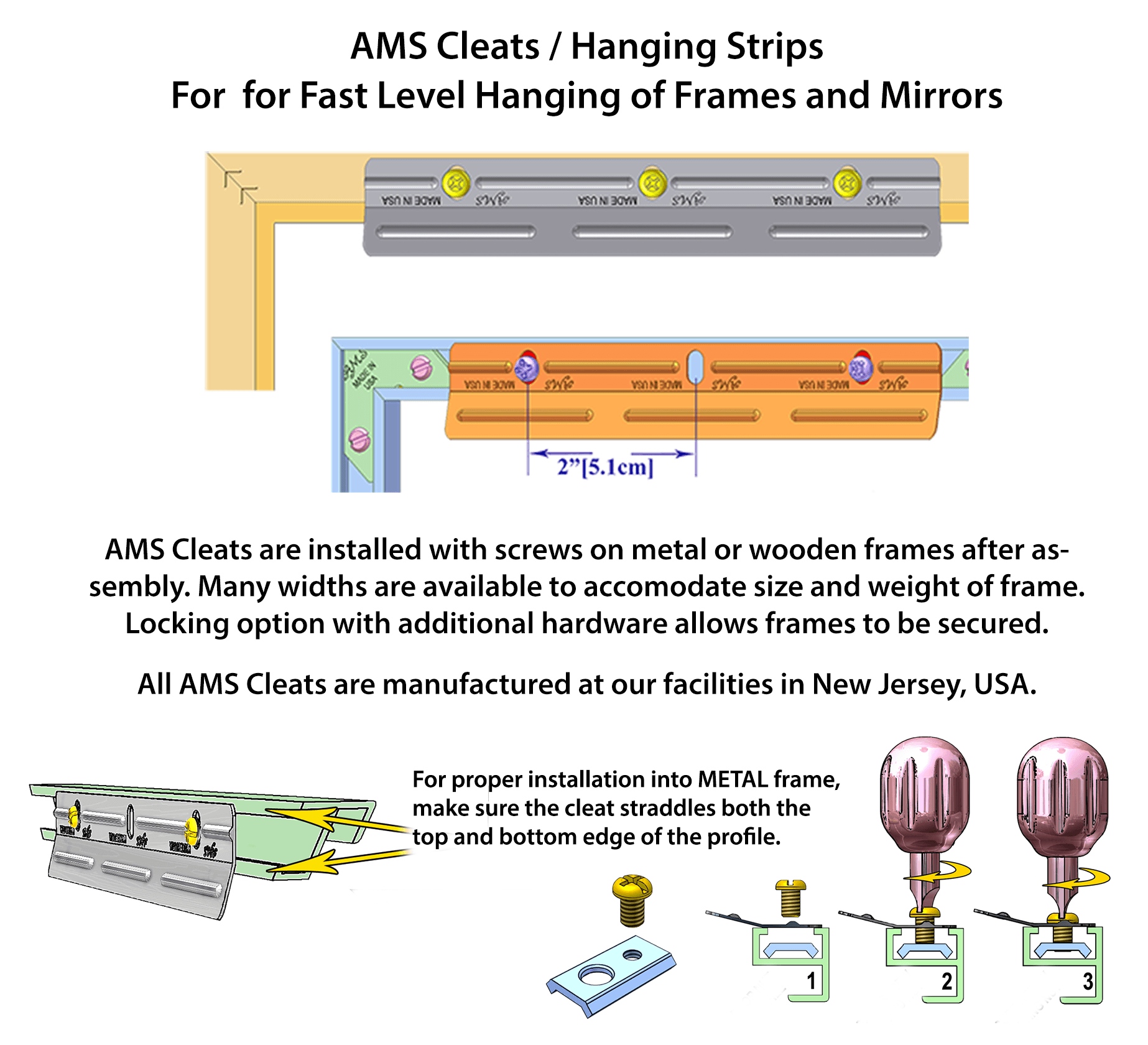 AMS: Hanging Hardware Bar System for Heavy Frames