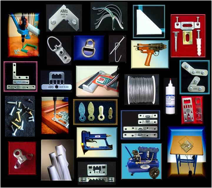 ams was founded in 1976 to provide reliable generic hardware to the aluminum picture framing industry by 1985 ams became one of the worlds largest