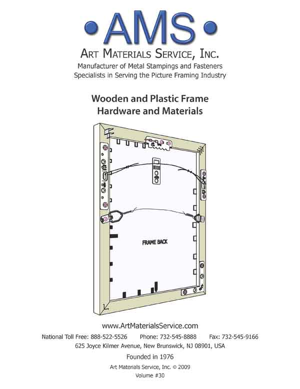 ams source for picture framing hardware and accessories